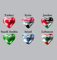 flags of the asian countries the flags of turkey vector image vector image