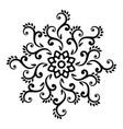 floral round mandala vector image