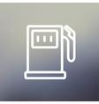 Gasoline pump thin line icon vector image