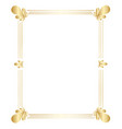 golden border design for use in various projects vector image