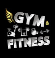 gym and fitness banner vector image vector image