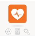 Heartbeat icon Cardiology symbol vector image vector image