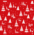 hohoho and christmas tree seamless pattern vector image vector image
