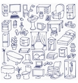 Home Furniture Set on squared paper vector image