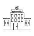 hospital building architecture facade cross vector image