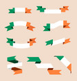 irish ribbons or banners in colors of irish flag vector image vector image