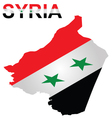 Isometric Syrian Flag vector image