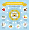 kindergarten infographic concept flat style vector image vector image