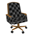 leather office chair vector image vector image