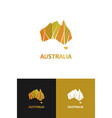 logo in view contour map australia vector image