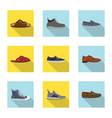 man and foot symbol set of vector image