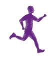 man running fitness vector image
