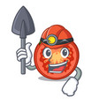 miner cartoon fresh tomato slices for cooking vector image
