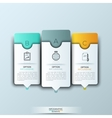 Modern infographics template with futuristic paper vector image