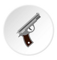 pistol icon circle vector image