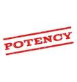 Potency Watermark Stamp vector image vector image