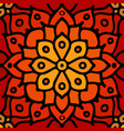 red abstract seamless mosaic ornament orange vector image