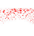 red heart halftone valentines day background red vector image vector image