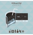 Rum and cola cocktail flat style isometric vector image vector image