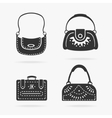 Set female bags vector image vector image