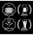 set of beer emblems vector image vector image