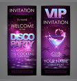 set of disco background banners cocktail disco vector image vector image
