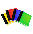set of realistic colored books with empty covers vector image