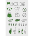 Soccerfootball icons vector | Price: 1 Credit (USD $1)