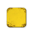 square corners yellow grunge frame vector image vector image