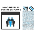 Staff Calendar Page Icon With 1000 Medical vector image vector image