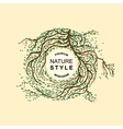 Stylish nature color template labels monogram