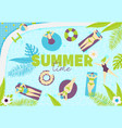 summer pool pattern vector image vector image