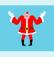 surprised santa pig perplexed piggy in red suit vector image vector image