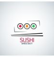 sushi roll plate menu background vector image vector image