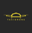 taxi done logo mockup innovation air city vector image vector image