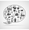 Team work strategy concept bubble icon vector image vector image