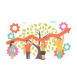 teamwork for business design vector image