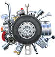 Truck Spares Concept vector image vector image