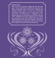 ultraviolet template with monoline white lace vector image vector image