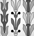 Vintage decorative set monochrome floral pattern vector image vector image