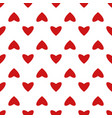 vintage seamless heart pattern cute simple style vector image vector image