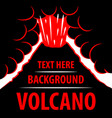 volcano background the eruption of the volcano in vector image vector image
