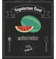 Watermelon icon Organic food design vector image