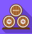whiskey barrel icon flat style vector image