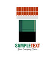 window with green shutter under rogood for logo vector image