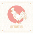 year rooster chinese horoscope line art and vector image