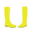 yellow boots vector image vector image