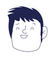 young man face character cartoon isolated icon on vector image vector image