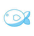 fish icon image vector image