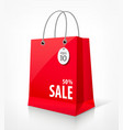 Shopping paper red bag